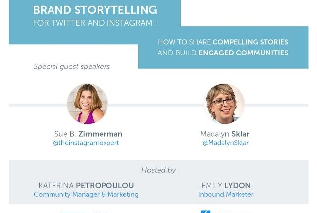 Brand Storytelling For Twitter And Instagram Webinar